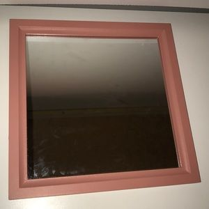 Small Coral Hanging Mirror